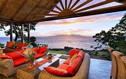 Luxury Living Villa Orange Relax Happy Sunrise