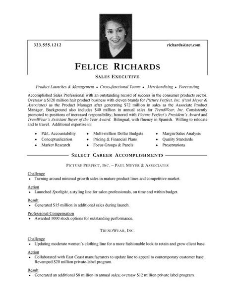 How To Make Cv For Sle by Best 25 Executive Resume Template Ideas Only On