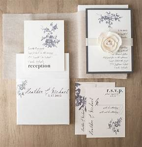 rustic ivory wedding invitations elegant boxed wedding With classy country wedding invitations