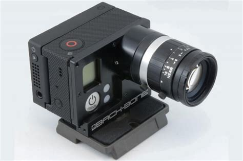 turn gopro hero interchangeable lens camera