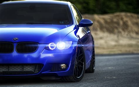 Car, Bmw, Rims, Blurred, Blue Cars Wallpapers Hd / Desktop