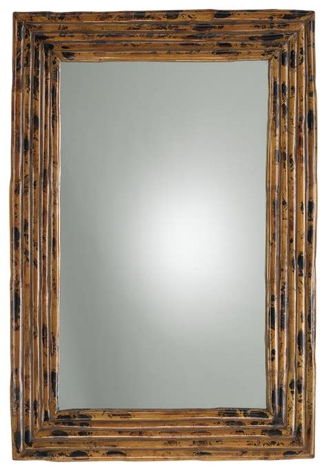 Tortoise Rectangle Mirror  Tropical  Wall Mirrors By