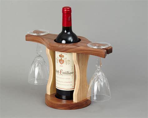 wood home interiors wine bottle glass holder beveledge