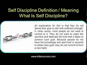 Self Discipline Definition / Meaning - What Is Self ...