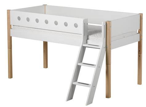 Flexa White Halbhohe Betten Mit Schrägleiter