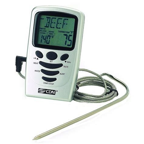 thermom re digital cuisine digital probe thermometer with timer in cooking thermometers