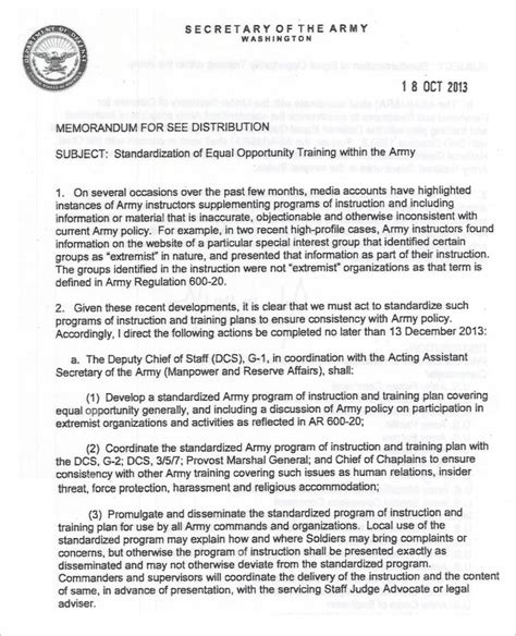 army memo sle army memo template 8 free pdf documents free premium templates