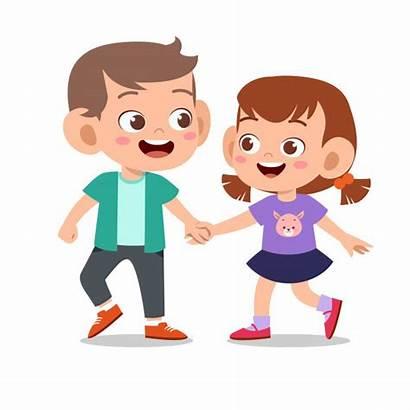 Cartoon Together Play Happy Friend Kid Birthday