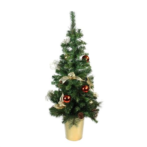 48 quot pre decorated gold and copper potted artificial