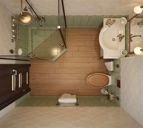 view from top of bathroom layout for a small space