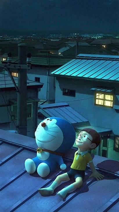 Doraemon Nobita Stand Iphone Shizuka Cartoon Wallpapers