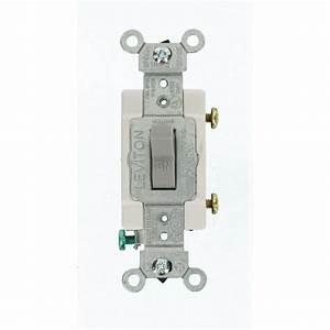 Leviton 15 Amp Commercial Grade Single Pole Toggle Switch