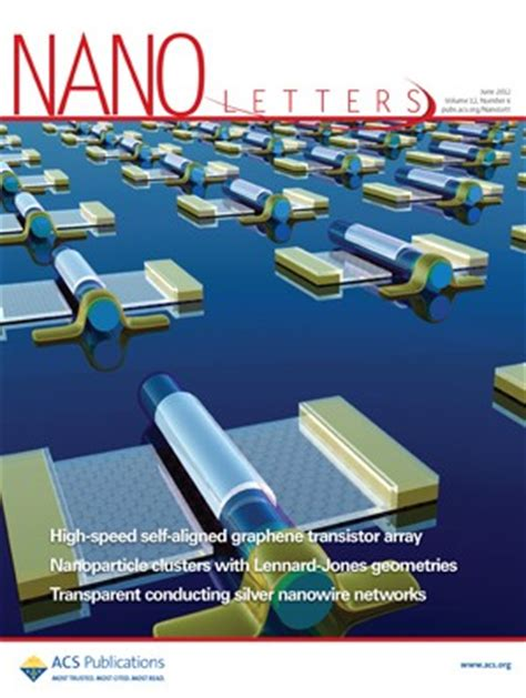 Nano Letters Cover Letter by Nano Letters Volume 12 Issue 6