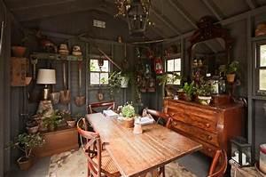Ash, Tree, Cottage, Potting, Shed, And, Cottage, Garden, Dreams