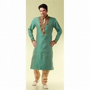 Tenue Indienne Homme : tenue indienne verte brod pour homme ~ Teatrodelosmanantiales.com Idées de Décoration