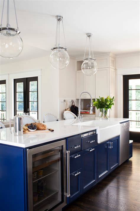 great ideas  navy blue kitchen cabinets decohoms
