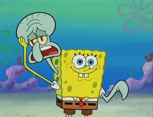 Spongebob and Squidward Stuck Together