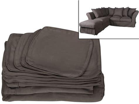 coussin canapé d angle housse pour canapé d 39 angle modulable pouf tissu victoire