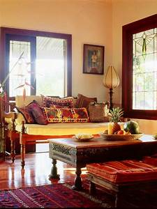 12 spaces inspired by india hgtv for Indian inspired living room design