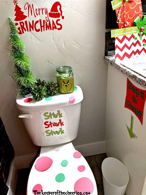 grinch bathroom ideas  keeper   cheerios