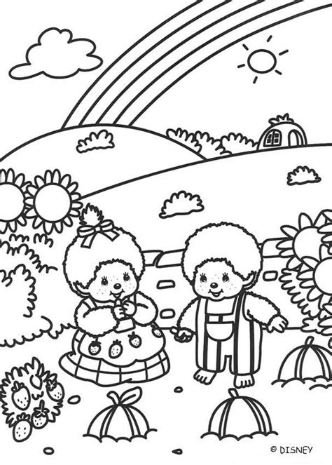 Monchichi Kleurplaat by Monchhichi Friends Coloring Pages Hellokids