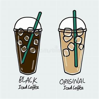 Coffee Iced Cup Cartoon Breakfast