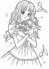 Coloring Pages Manga Print Cartoon Animated sketch template