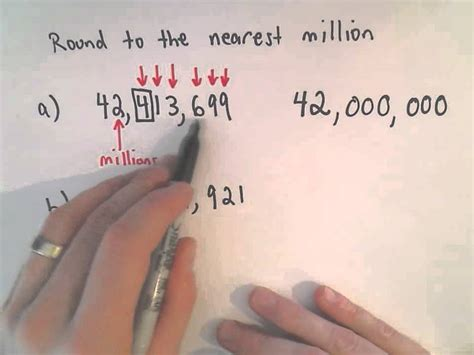 Rounding Whole Numbers Round To The Nearest Million Youtube