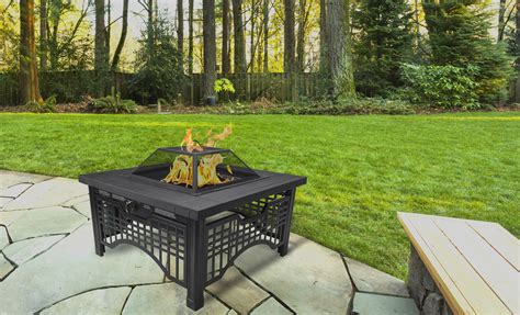 Pleasant Hearth Dakota Wood Burning Fire Pit / Barbeque