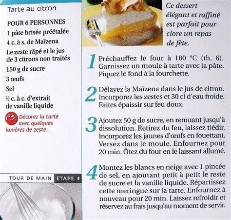 750g fiche de cuisine fiche cuisine tarte au citron meringuée