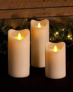 Led Kerzen Echtwachs : fdl led kerze echtwachs movinflame 3er set elfenbein h he 12 5 cm 18 cm 23 cm fernbedienung ~ Eleganceandgraceweddings.com Haus und Dekorationen