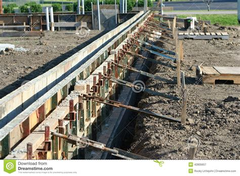Wall Forms Molds For Concrete Royalty Free Stock Image