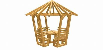 Holz Pavillon Bauen Selber Bauplan Eck Bauanleitung