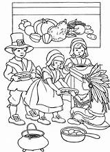 Thanksgiving Coloring Feast Template Happy sketch template