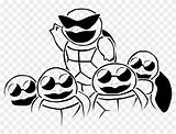 Coloring Squirtle Squad Pages Try Hd Pngfind sketch template