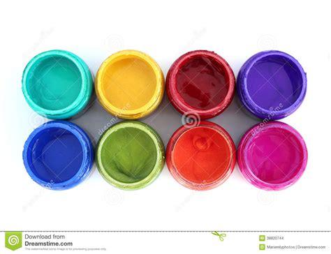 pots de peinture d arc en ciel photo stock image 38820744