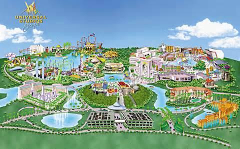 Universal Studios Orlando Theme Park Map
