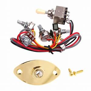 Output Jack Plate Socket Guitar Circuit Wiring Kit Pots