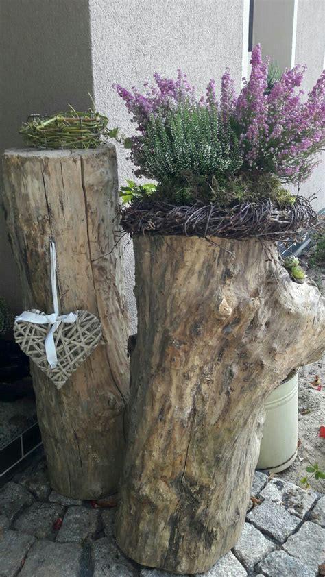 Holz Deko Garten by Hohler Baumstamm Bepflanzt Baumstamm Bepflanzen