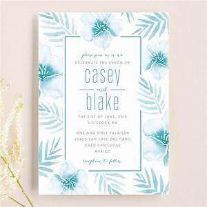 tropical hibiscus wedding invitations by smudge design With minted tropical wedding invitations