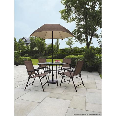 Mainstay Patio Furniture At Walmart by Mainstays Sand Dune 6 Folding Sling Set Patio