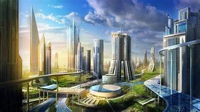 Future Wallpapers Futuristic Cities Concept Utopia Cave