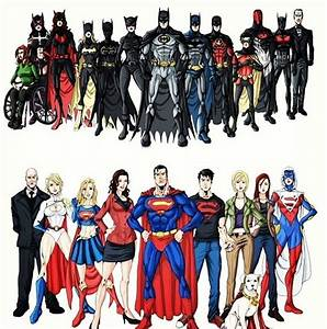 The Bat family and the Super family | DC Super Heros ...