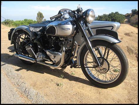 Triumph Tiger 100 by Ton Up Classics 1947 Triumph Tiger 100 Dusting Sidecar