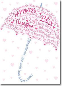 wedding shower wishes type umbrella a press bridal shower card greeting card by avanti press