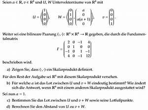 Abstand Berechnen Auto : vektorraum lot und abstand u und v w aufgaben b d untervektorr ume mathelounge ~ Themetempest.com Abrechnung
