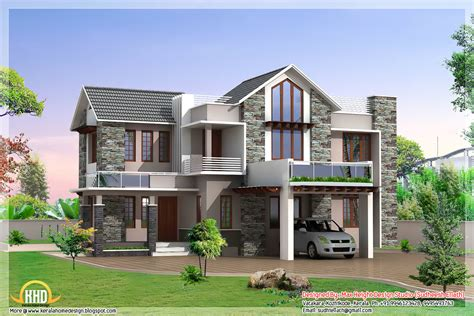 modern style home plans 3 beautiful modern home elevations kerala home design