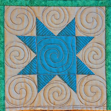free quilting designs the free motion quilting project 48 quilt spirals in a