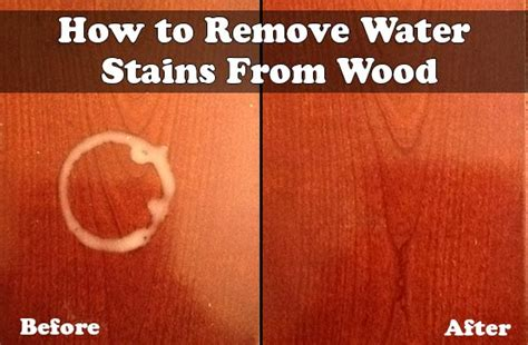 how to remove stains how to remove water stains from wood living green and frugally