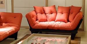 Canape Une Place Lit : cinius canap lit futon modle sole structure en bois de ~ Premium-room.com Idées de Décoration